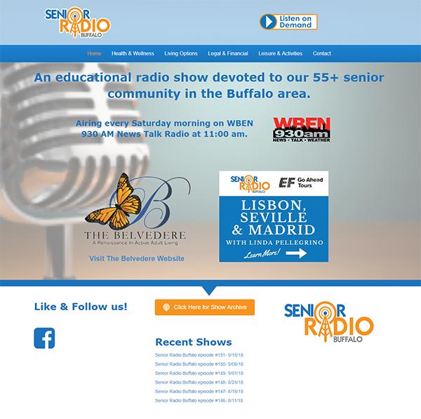 screenshot of seniorradiobuffalo.com