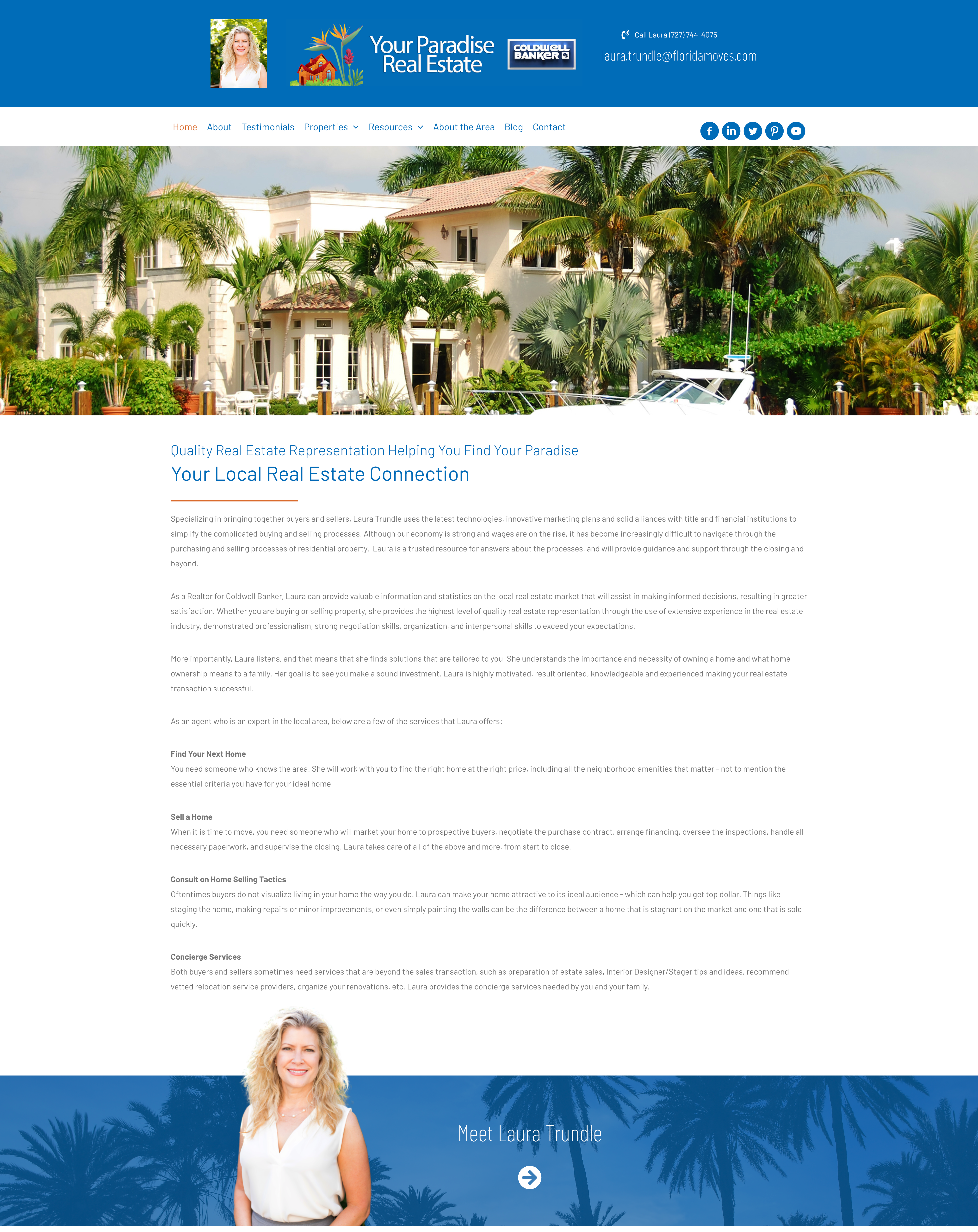 this is a screen shot of yourparadiserealestate.com